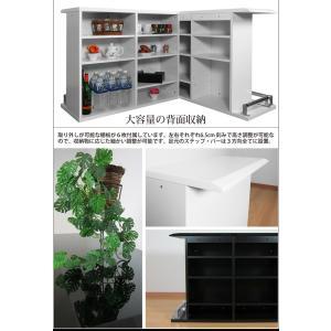 バーカウンター カウンターテーブル L字セット カウンター テーブル ホワイト 白 ブラック 黒|35plus|03