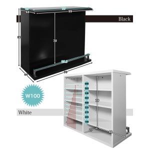 バーカウンターテーブル おしゃれ バーカウンター 自宅 キッチンカウンター セット 収納付き|35plus|04