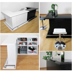 バーカウンターテーブル おしゃれ バーカウンター 自宅 キッチンカウンター セット 収納付き|35plus|07