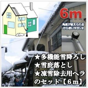6mタイプ)多機能雪降ろし&雪庇落とし&凍雪除去用ヘラセット...