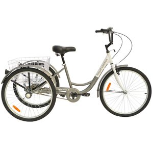 Royal London Adult Tricycle 3 Wheeled Trike Bicycle w/Wire Shopping Ba|36hal01