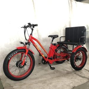 Bpmimports BPM R-750W 48V 17AH RED Rickshaw Fat TIRE Electric Bike Bic|36hal01
