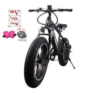 NAKTO Fat Tire Electric Bicycle Super Stable 500W/350W/300W Brushless|36hal01