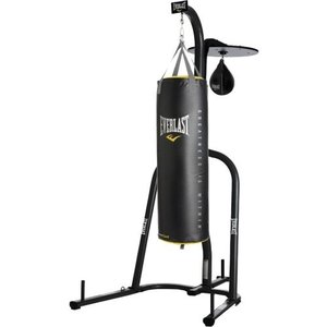 Everlast Dual Station Punching Bag Stand w/ 100 lb PowerCore Heavy Bag
