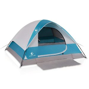ALPHA CAMP 4 Person Dome Tent for Camping Easy Set...
