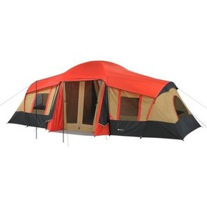 Ozark WMT922.2A Trail 10-Person 3-Room Vacation Tent Fits 3 Queen Air|36hal01