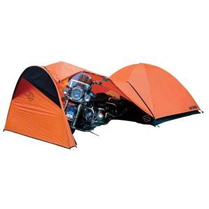 Harley-Davidson Dome Tent w/Vestibule Motorcycle Storage, Orange HDL-1|36hal01