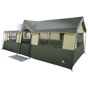 Spacious and Comfortable Ozark Trail Hazel Creek 12 Person Cabin Tent,|36hal01