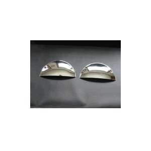 "Octane Lighting 7"" Chrome Metal Half Moon Headligh..."