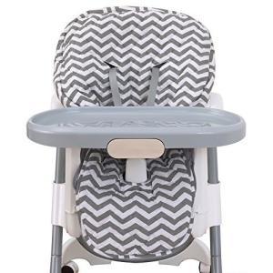 NoJo High Chair Cover Pad - Chevron Gray|36hal01
