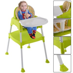 3 in 1 Baby High Chair Convertible Table Seat Booster Toddler Feeding|36hal01
