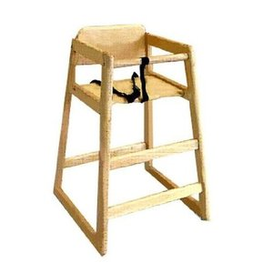 LA Baby Commercial/Restaurant Wooden High Chair, N...