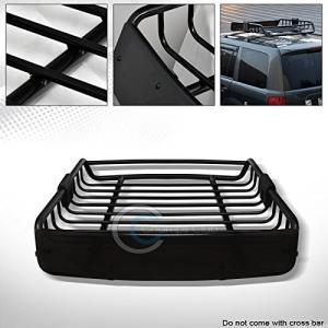 R&L Racing Black Roof Rack Basket Car Top Carg...