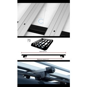 """R&L Racing 49"""" SILVER SQUARE ROOF RAIL RACK CR..."""