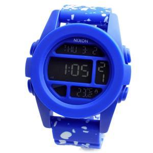 NIXON ニクソン 腕時計 メンズ ユニセックス THE UNIT ユニット ブルー コバルトスペックル デジタル メンズウォッチ 男性用 A197-2303 A1972303|39surprise
