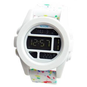 NIXON ニクソン 腕時計 メンズ ユニセックス THE UNIT ユニット ホワイト マルチスペックル デジタル メンズウォッチ 男性用 A197-2313 A1972313|39surprise