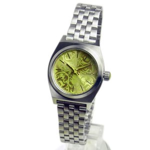 NIXON ニクソン レディース腕時計 Small Time Teller スモールタイムテラー シルバー/ネオンイエロー レディースウォッチ 女性用 A3991898 A399-1898|39surprise