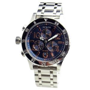 NIXON ニクソン 腕時計 レディース ユニセックス 38-20 クロノグラフ ネイビー/ローズゴールド 女性用 A404-2195 A4042195|39surprise