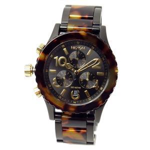 ニクソン 腕時計 メンズ レディース NIXON 38-20 クロノグラフ オールブラック/トートイ...