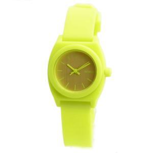 NIXON ニクソン 腕時計 レディース Small Time Teller スモールタイムテラー ネオンイエロー/ビートルポイント 女性用 A425-1896 A4251896|39surprise