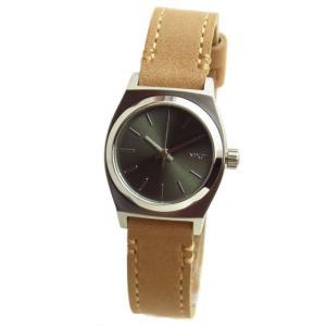 NIXON ニクソン 腕時計 レディース Small Time Teller スモールタイムテラー レザー サドル/セージ ライトブラウン×グリーン 女性用 A509-2217 A5092217|39surprise