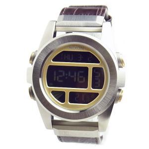【アウトレット訳あり価格】 NIXON ニクソン 腕時計 メンズ THE UNIT SS ユニットSS レザー ブラウンゲーター デジタル 男性用 A946-1887 A9461887|39surprise