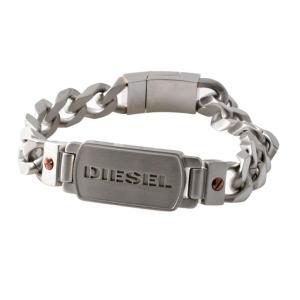 DIESEL ディーゼル DX1075040 ロゴプレート&チェーン メンズ ブレスレット ブレイブマン(モヒカン) 39surprise