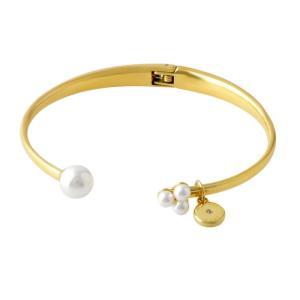 MICHAEL KORS マイケルコース MKJ6649710 Modern Classic pearl ロゴチャーム付 パール カフ バングル ブレスレット 39surprise