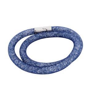 SWAROVSKI スワロフスキー 5184173 Stardust Blush Blue Double スターダスト ダブルラップ 2重巻タイプ ブラッシュ・クリスタル ブレスレット Sサイズ|39surprise