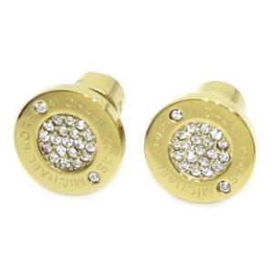 MICHAEL KORS マイケルコース Pave Logo Gold-Tone Stud Earrings パヴェ ロゴディスク ピアス MKJ3351710 39surprise