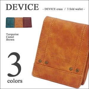 DEVICE crass デバイス ヴィンテージ メンズ 三つ折り財布|39surprise