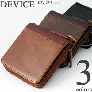 DEVICE Shade デバイス メンズ 2つ折り財布 (ウォレット/2つ折りサイフ/サイフ/さいふ/メンズ財布/メンズサイフ/革/皮/レザー/小銭入れ/トップハウス/wallet)|39surprise