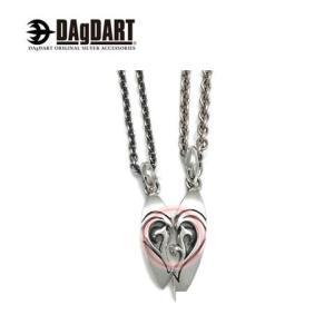 DAgDART ダグダート [Piece of Heart] ハートが浮かび上がる ペアペンダント ペアネックレス シルバー DT-224-225|39surprise