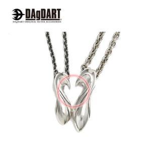 DAgDART ダグダート [Swelling Love] ハートが浮かび上がる ペアペンダント ペアネックレス シルバー DT-228-229|39surprise