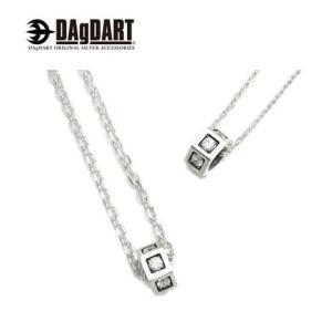 DAgDART ダグダート [Glass] キュービックジルコニア ペアペンダント ペアネックレス シルバー DT-237P|39surprise