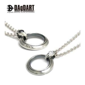 DAgDART ダグダート [Glass] キュービックジルコニア ペアペンダント ペアネックレス シルバー DT-239P|39surprise