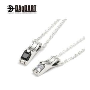 DAgDART ダグダート [Glass] キュービックジルコニア ペアペンダント ペアネックレス シルバー DT-298P|39surprise