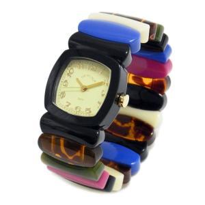 Time Will Tell タイムウィルテル(タイムウイルテル) 腕時計 ブラック&レインボー2 バングルブレスウオッチ MULTI-BLRA2 39surprise