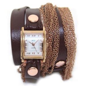 LA MER COLLECTIONS ラメール コレクション レディース腕時計 3ラップブレスレット&W11連チェーン(ピンクゴールド) LMDU01002 LMDUO1002|39surprise