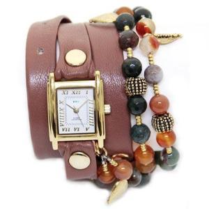 LA MER COLLECTIONS ラメール コレクション レディース腕時計 3ラップブレスレット&2連マルチストーン チェーン LMMULTI2006|39surprise