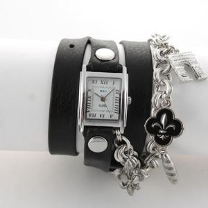 La Mer Collections ラメール コレクションズ レディース腕時計 LMCW8001 3ラップブレスレット&チェーン&チャーム|39surprise