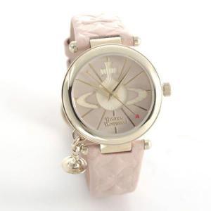 Vivienne Westwood ヴィヴィアンウエストウッド レディース腕時計 オーブチャーム オーブモチーフ レザーストラップ ウオッチ VV006PKPK|39surprise
