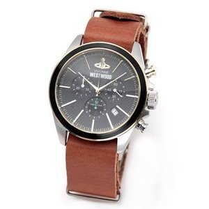 Vivienne Westwood ヴィヴィアンウエストウッド レディース腕時計 ブラック&ゴールド スタイリッシュ クロノグラフ VV069BKBR|39surprise