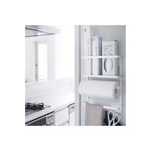 tower マグネット冷蔵庫サイドラック タワー ホワイト おしゃれ雑貨 おすすめ 人気   キッチン用品の商品画像|ナビ