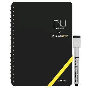【欧文印刷株式会社】 CANSAY NUboard ヌーボード A5判変型 SHOT NOTEタイプ (ノート型ホワイトボード)|3chome-market