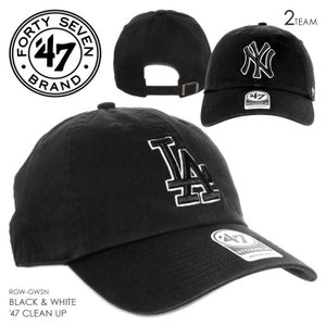 47 Brand キャップ メンズ BLACK & WHITE '47 CLEAN UP RGW12GWSN 2018春 ブラック ワンサイズ|3direct
