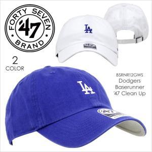 キャップ メンズ 47 Brand DODGERS Baserunner '47 CLEAN UP - BSRNR12GWS  フォーティセブンブランド LA ロサンゼルス ドジャース コットン 定番 ベーシック ミ|3direct