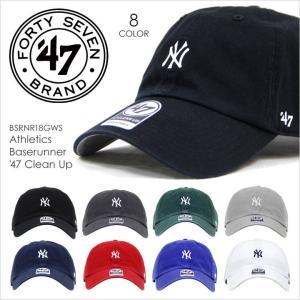 キャップ メンズ 47 Brand YANKEES Baserunner '47 CLEAN UP - BSRNR17GWS フォーティセブンブランド NY ニューヨーク ヤンキース コットン 定番 ベーシック ミ|3direct