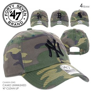 47 Brand キャップ メンズ CAMO UNWASHED '47 CLEAN UP CAMUN12GWS 2018春 カモフラージュ ワンサイズ 3direct
