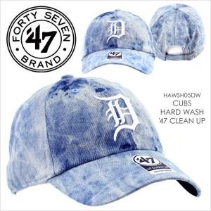 キャップ 47 Brand TIGERS HARD WASH '47 CLEAN UP - HAWSH09DW フォーティセブン ローキャップ|3direct